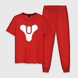 Пижама хлопковая мужская Destiny Symbol цвета красный — фото 1