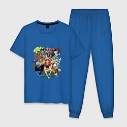 Пижама хлопковая мужская Ван-Пис цвета синий — фото 1