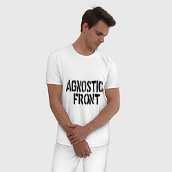 Пижама хлопковая мужская Agnostic front цвета белый — фото 2