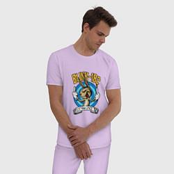 Пижама хлопковая мужская Blink-182: Fuck you цвета лаванда — фото 2