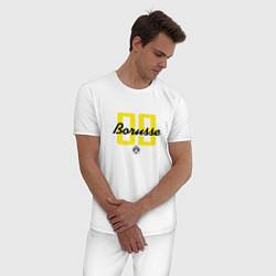Пижама хлопковая мужская Borusse 09: light цвета белый — фото 2