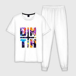 Пижама хлопковая мужская BMTH цвета белый — фото 1