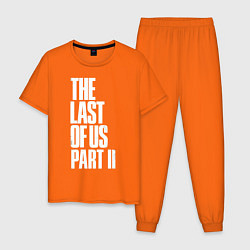 Пижама хлопковая мужская The Last of Us: Part II цвета оранжевый — фото 1