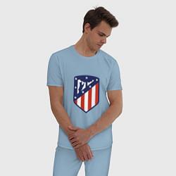 Пижама хлопковая мужская Atletico Madrid цвета мягкое небо — фото 2