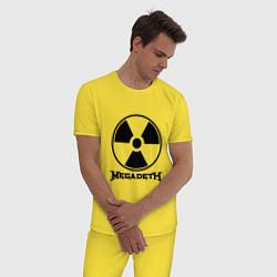 Пижама хлопковая мужская Megadeth: Radioactive цвета желтый — фото 2