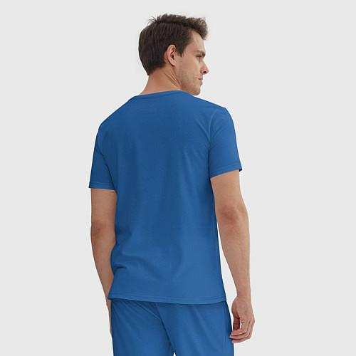 Мужская пижама Обнимашки? / Синий – фото 4