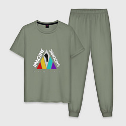 Пижама хлопковая мужская Imagine Dragons: Evolve цвета авокадо — фото 1