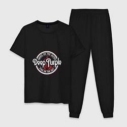 Пижама хлопковая мужская Deep Purple: Fire on the Sky цвета черный — фото 1