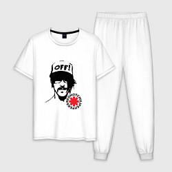 Пижама хлопковая мужская Red Hot Chili Peppers: Off цвета белый — фото 1