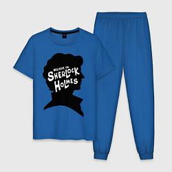 Пижама хлопковая мужская Believe Sherlock Holmes цвета синий — фото 1