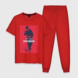 Пижама хлопковая мужская Slim Shady: Eminem цвета красный — фото 1