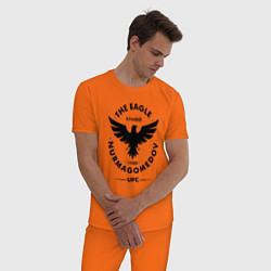 Пижама хлопковая мужская The Eagle: Khabib UFC цвета оранжевый — фото 2