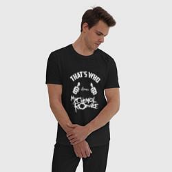 Пижама хлопковая мужская That's Who love My Chemical Romance цвета черный — фото 2