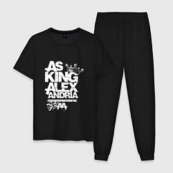 Пижама хлопковая мужская Asking Alexandria UK цвета черный — фото 1