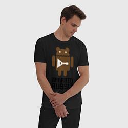 Пижама хлопковая мужская Android Russia цвета черный — фото 2