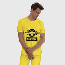 Пижама хлопковая мужская Vault-tec цвета желтый — фото 2