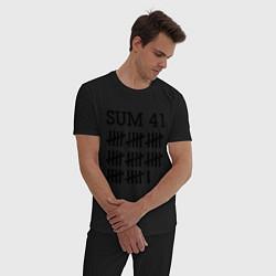 Пижама хлопковая мужская Sum 41: Days цвета черный — фото 2