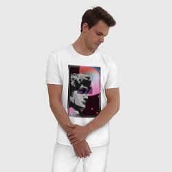 Пижама хлопковая мужская Vapor David цвета белый — фото 2
