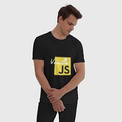 Пижама хлопковая мужская Vanilla JS цвета черный — фото 2