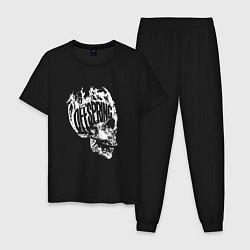 Пижама хлопковая мужская The Offspring: Dead Skull цвета черный — фото 1