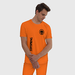 Пижама хлопковая мужская The Offspring цвета оранжевый — фото 2