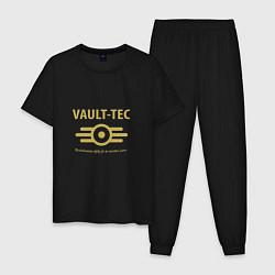 Пижама хлопковая мужская Vault Tec цвета черный — фото 1