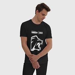 Пижама хлопковая мужская R6S Lion цвета черный — фото 2