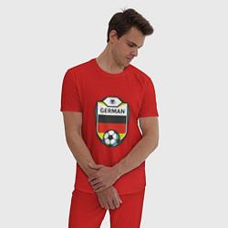 Пижама хлопковая мужская German Soccer цвета красный — фото 2