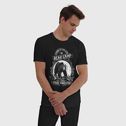 Пижама хлопковая мужская Bear Camp Free Forever цвета черный — фото 2