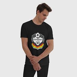 Пижама хлопковая мужская Germany League цвета черный — фото 2