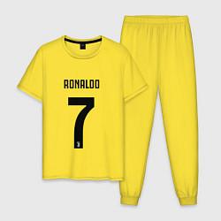 Пижама хлопковая мужская RONALDO 7 цвета желтый — фото 1