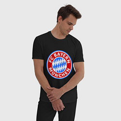 Пижама хлопковая мужская Bayern Munchen FC цвета черный — фото 2