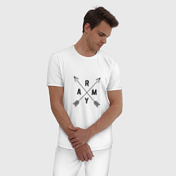 Пижама хлопковая мужская BTS ARMY цвета белый — фото 2