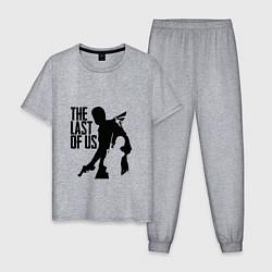 Пижама хлопковая мужская THE LAST OF US цвета меланж — фото 1