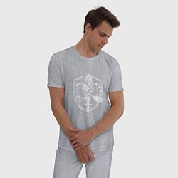 Пижама хлопковая мужская Темный рыцарь цвета меланж — фото 2