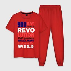 Мужская пижама The Beatles Revolution