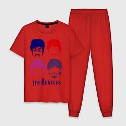 Мужская пижама The Beatles faces