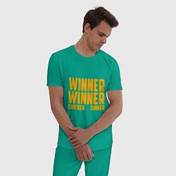 Пижама хлопковая мужская PUBG: Chiken Dinner цвета зеленый — фото 2