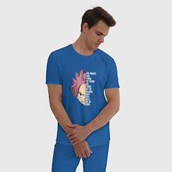 Пижама хлопковая мужская Natsu Quote цвета синий — фото 2