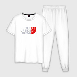 Пижама хлопковая мужская The Upside Down цвета белый — фото 1