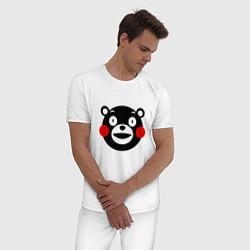 Пижама хлопковая мужская Kumamon цвета белый — фото 2
