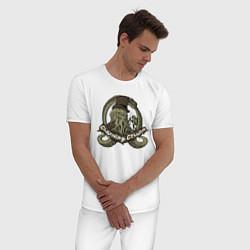 Пижама хлопковая мужская Charming Cthulhu цвета белый — фото 2