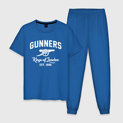 Пижама хлопковая мужская Arsenal Guinners цвета синий — фото 1