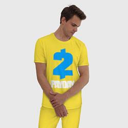 Пижама хлопковая мужская PAYDAY 2 цвета желтый — фото 2