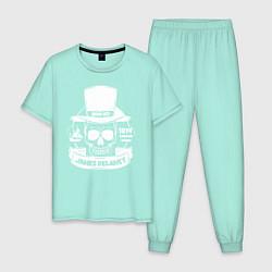 Пижама хлопковая мужская Taboo: James Delaney цвета мятный — фото 1