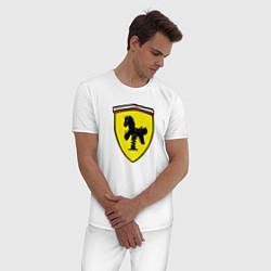 Пижама хлопковая мужская Ferrari Baby цвета белый — фото 2