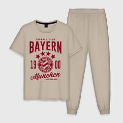 Пижама хлопковая мужская Bayern Munchen 1900 цвета миндальный — фото 1