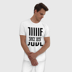 Пижама хлопковая мужская Juve Since 1897 цвета белый — фото 2