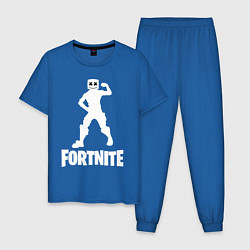 Пижама хлопковая мужская FORTNITE x MARSHMELLO цвета синий — фото 1