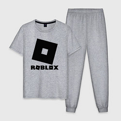 Пижама хлопковая мужская ROBLOX цвета меланж — фото 1